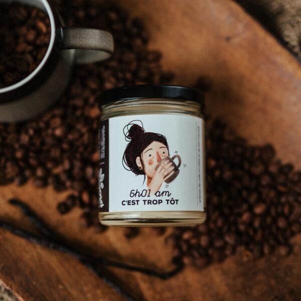6h01 café chandelle dans la prairie